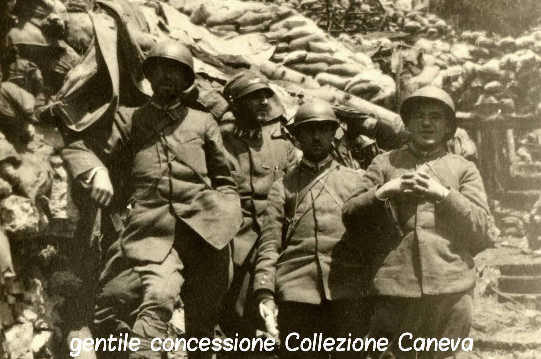 69 - Il capitano Emilio Lussu e colleghi ufficiali in linea sullo Zebio copia criptata.jpg