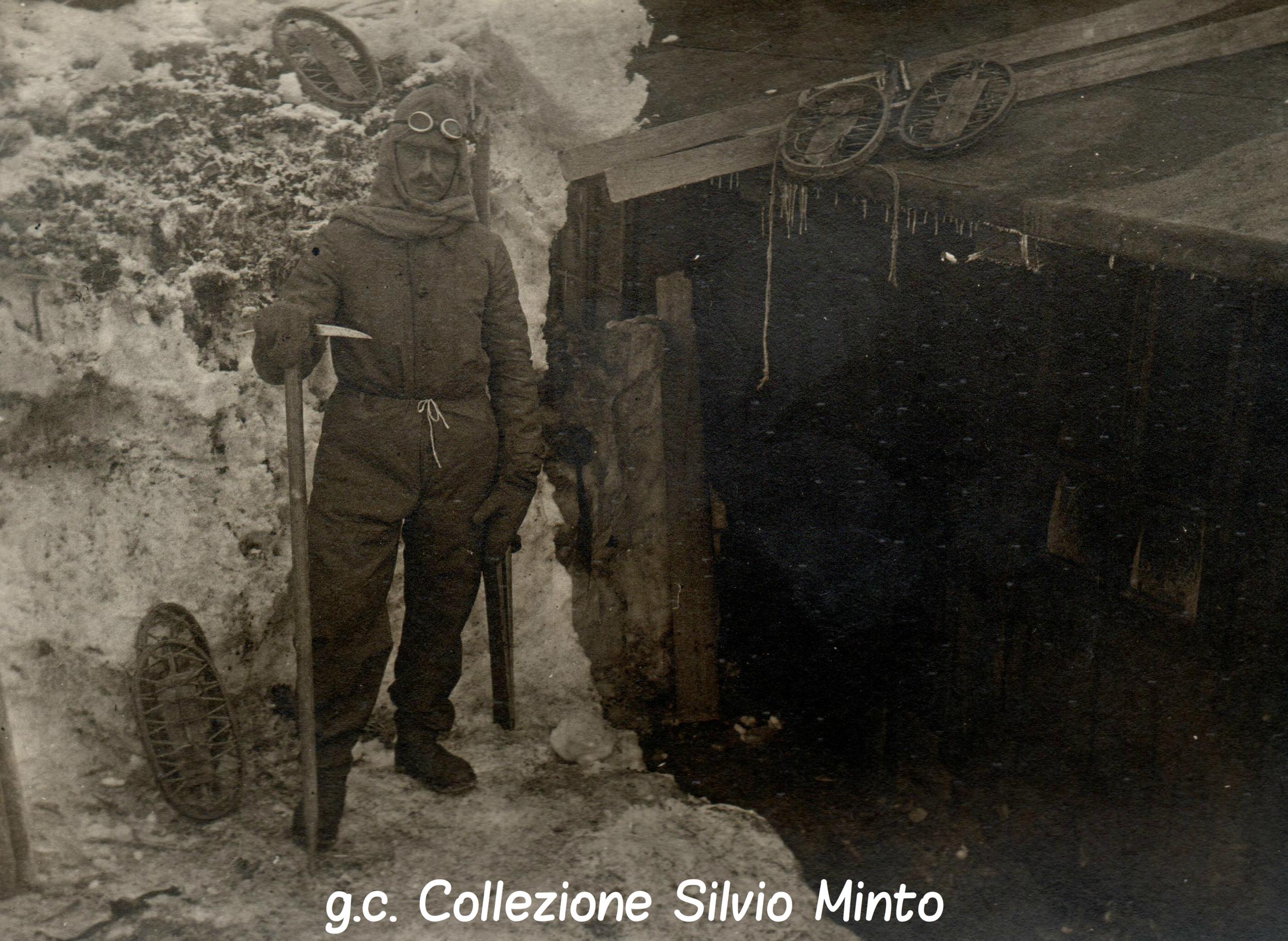 Soldato austriaco con equipaggiamento invernale ritratto nel 1917 sulla Marmolada