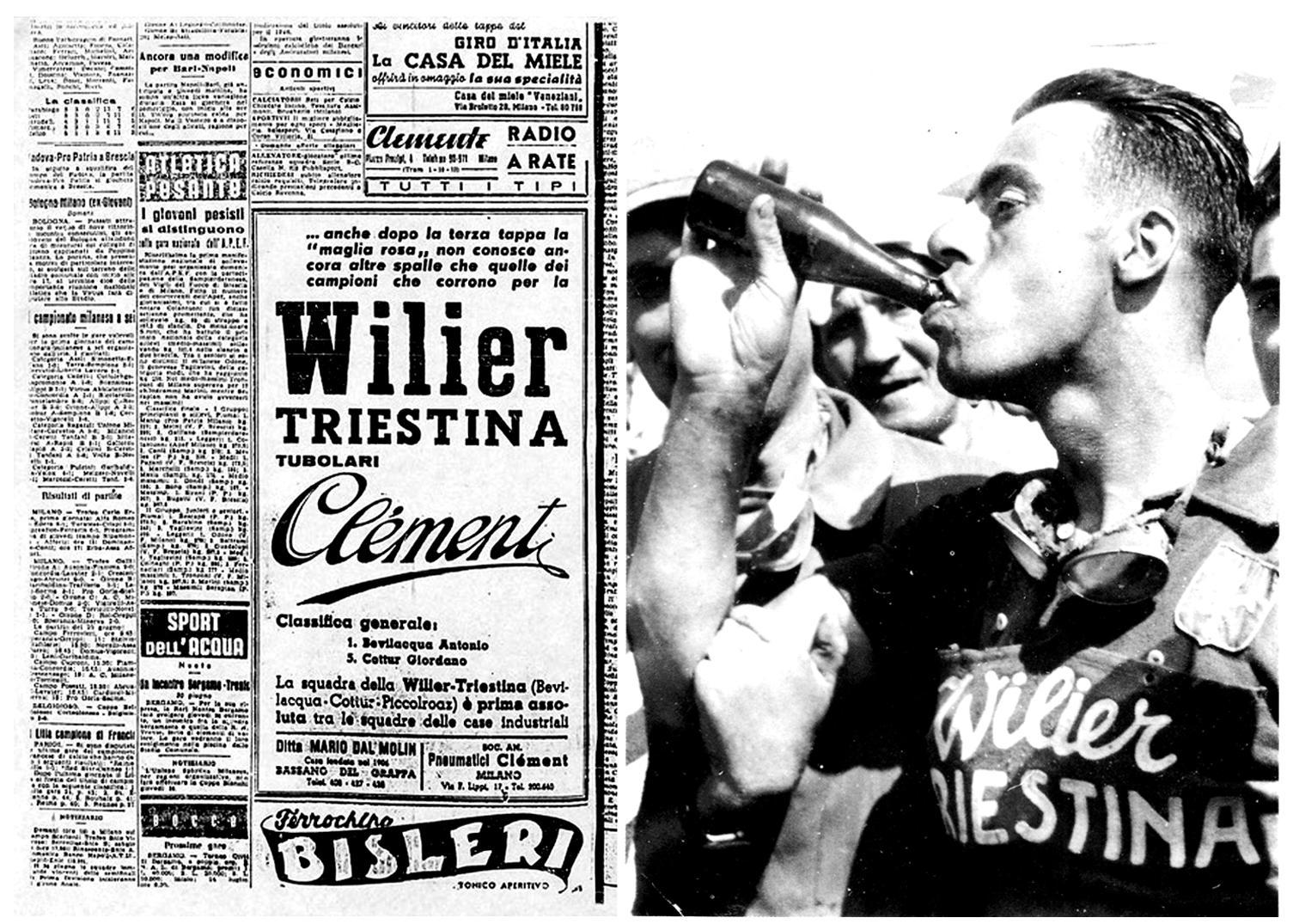 """Il corridore della """"Wilier Triestina""""Bevilacqua vincitore della tappa del Giro d'Italia"""