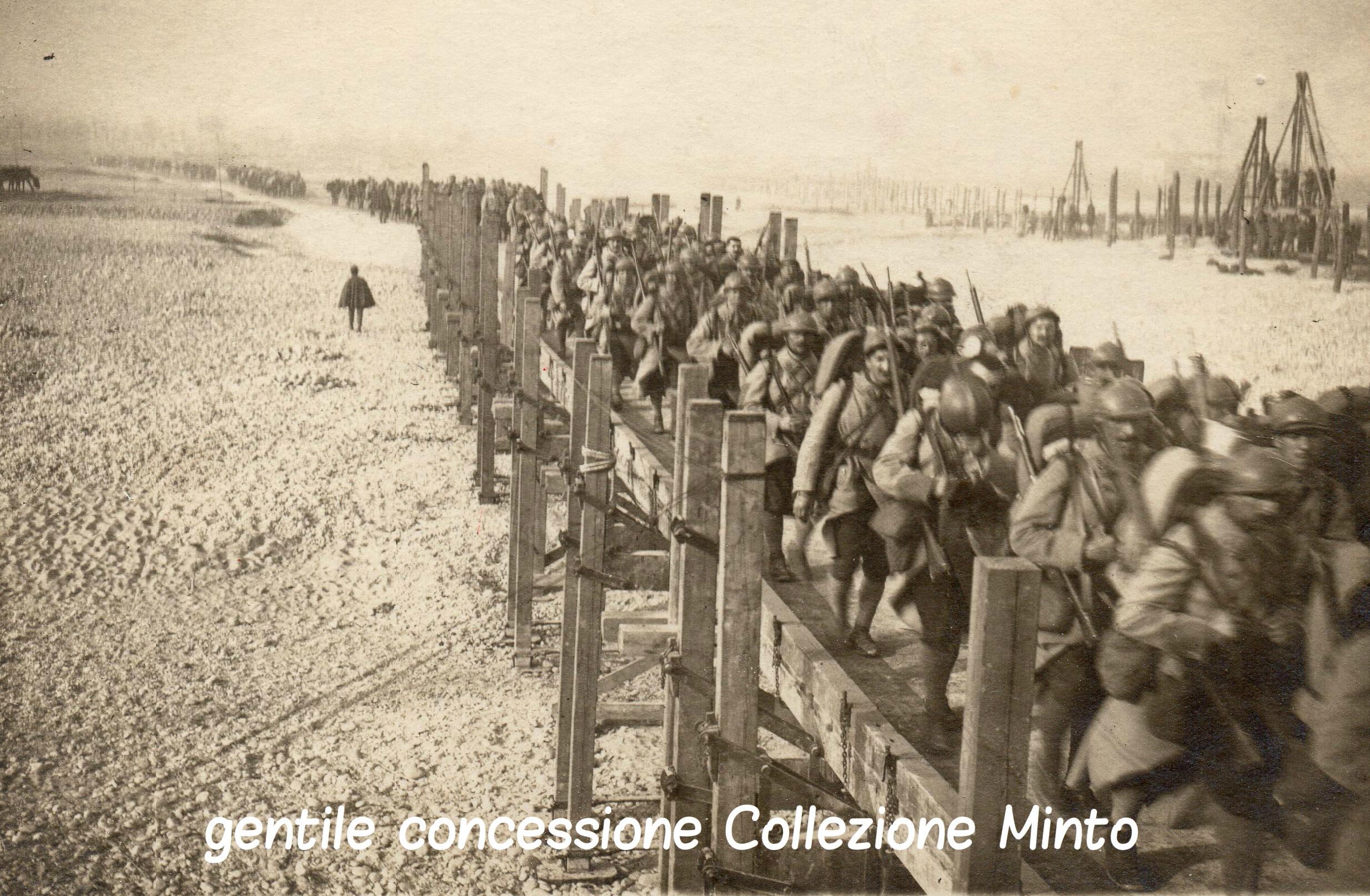 Truppe Francesi in marcia verso il fronte del Piave