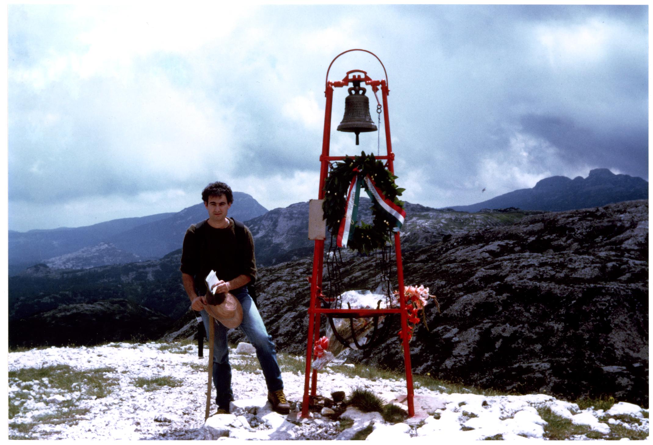 Ruggero Dal Molin in Ortigara nei primi anni '80