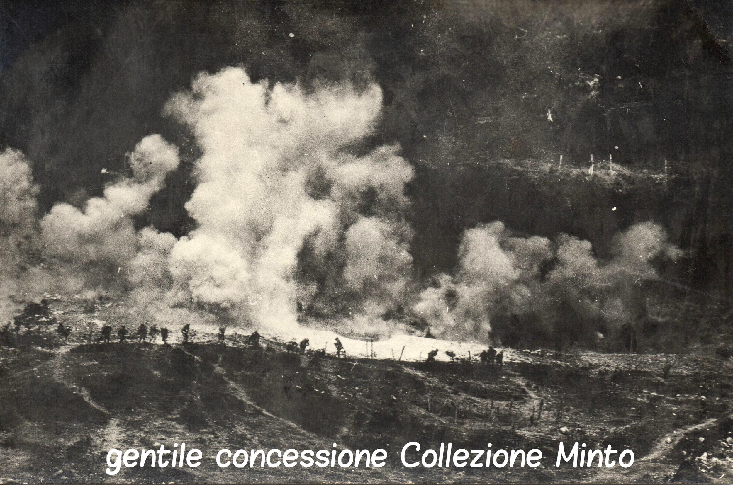 Uno dei drammatici assalti per la conquista del Montello