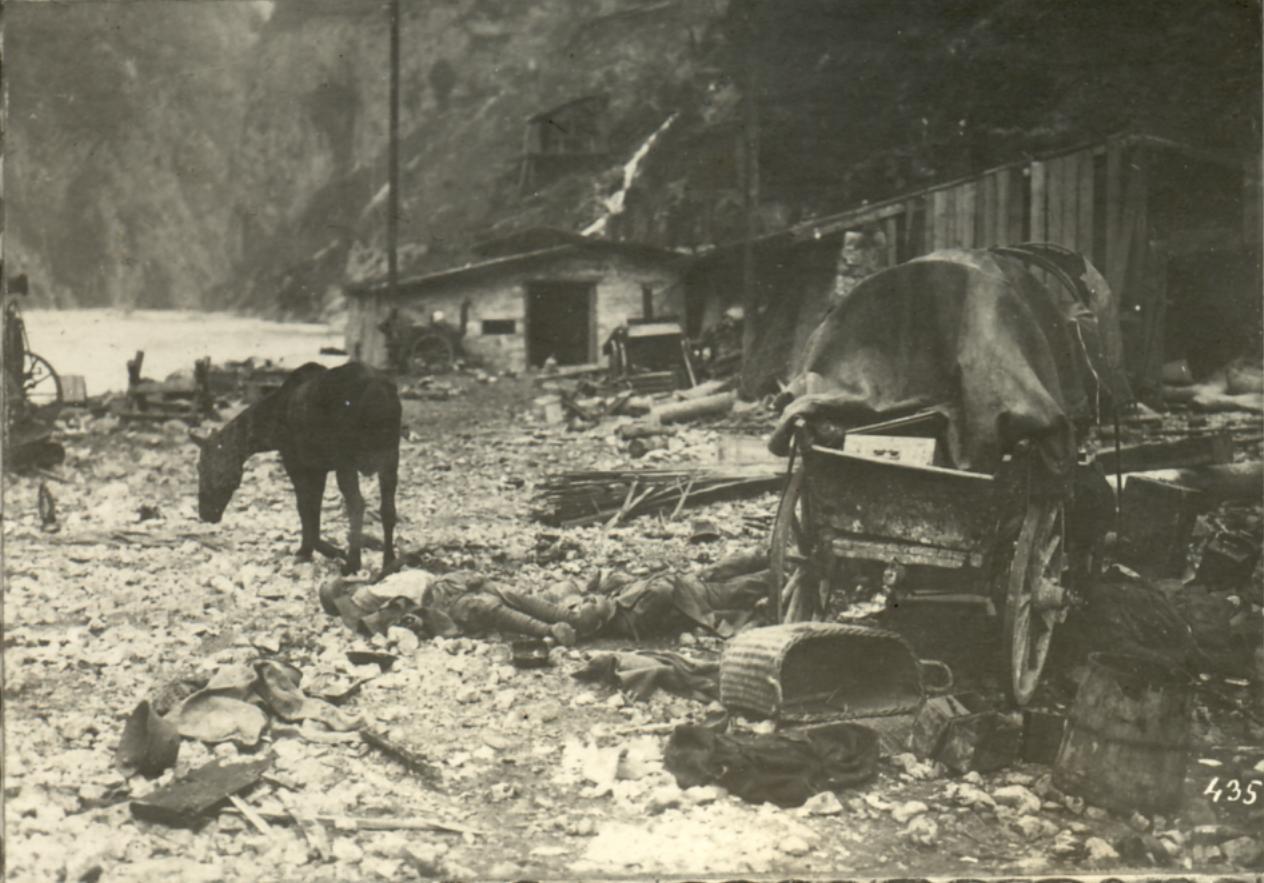 Distruzione nel fondovalle lungo il fiume Brenta