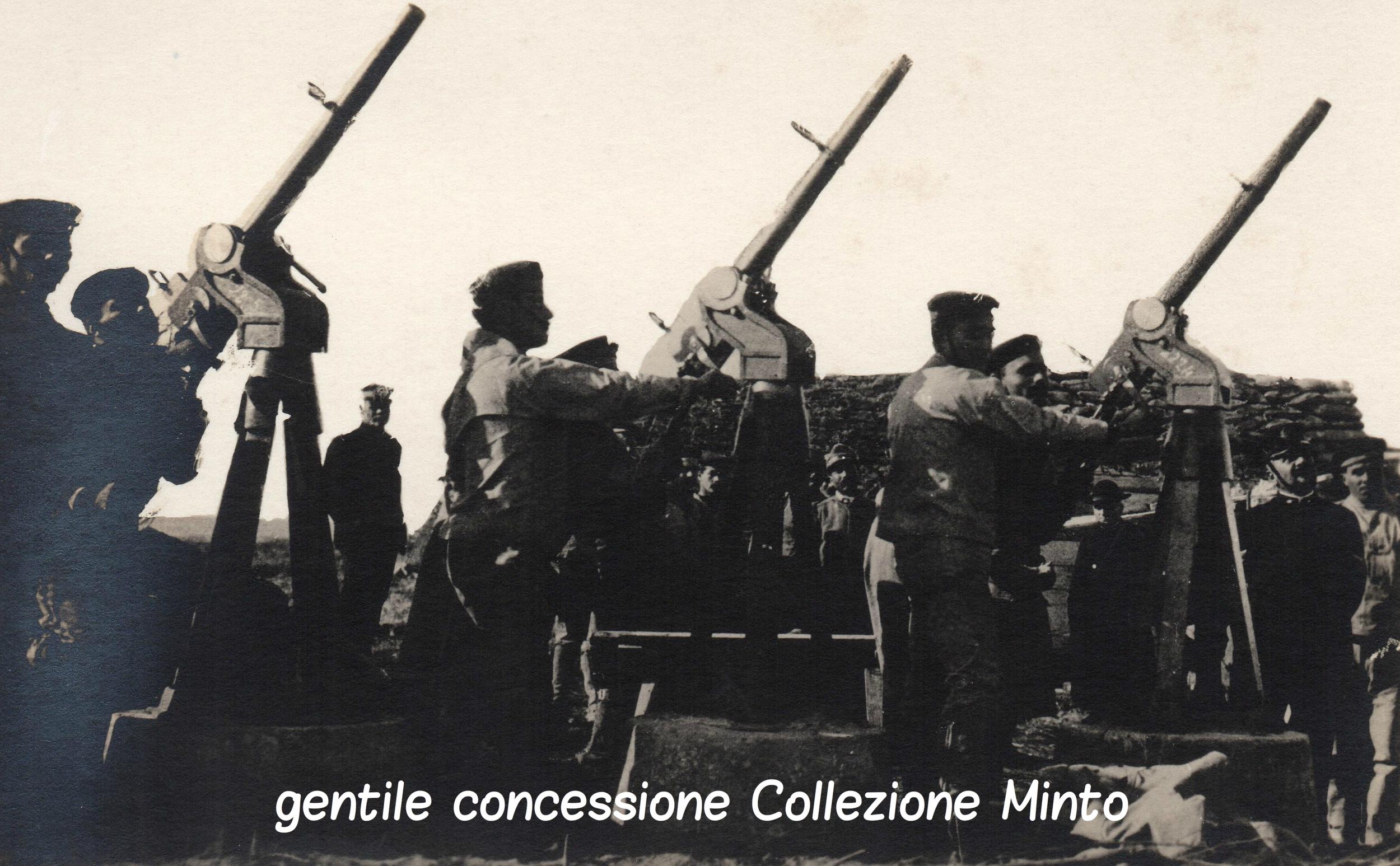 Postazione controaerea della Regia Marina predisposta per la difesa di Venezia