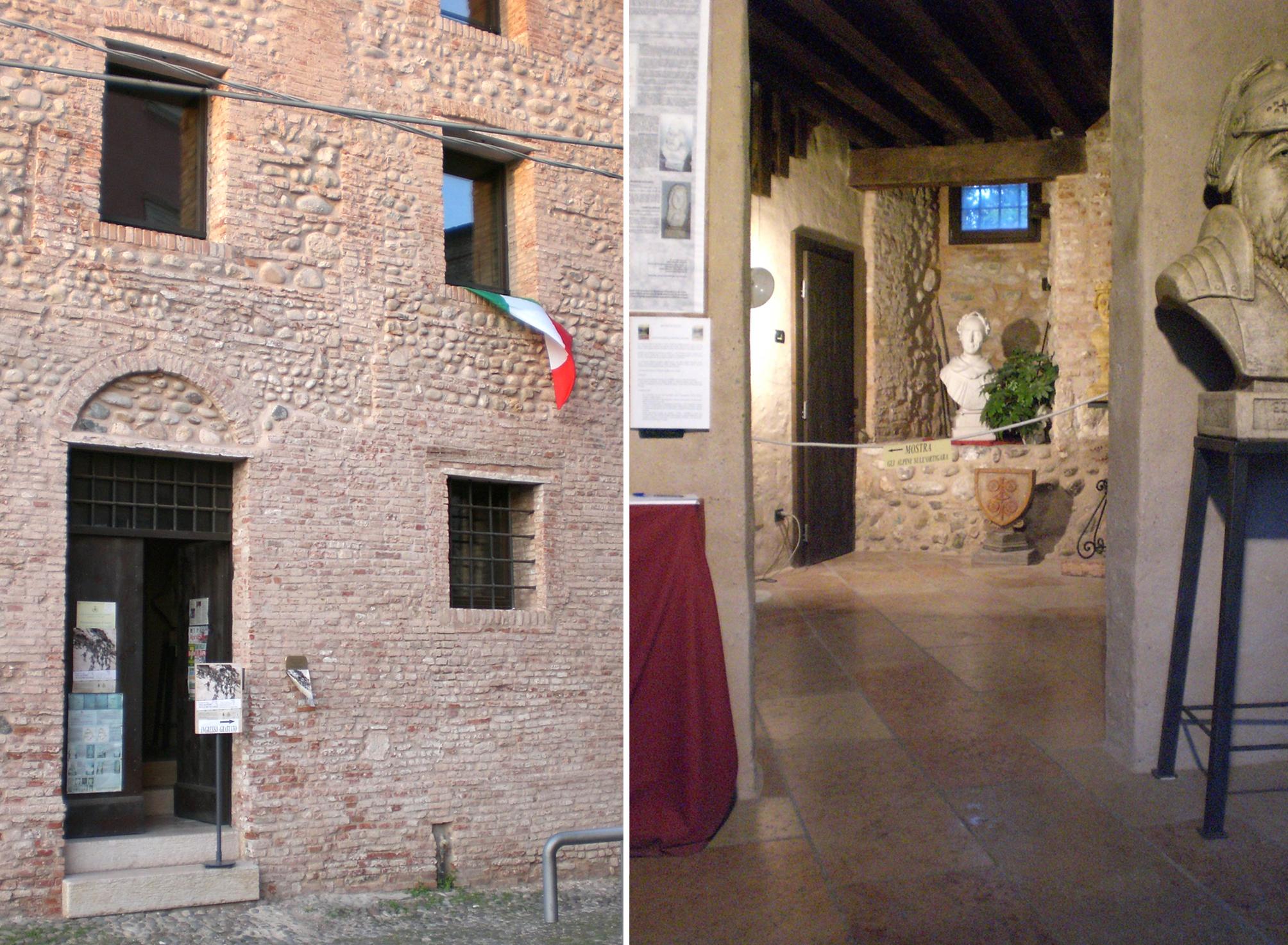 03 - la sala al corpo di guardia del Castello degli Ezzelini di Bassano.JPG