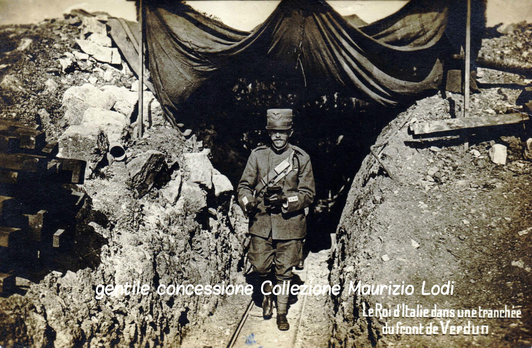 S.M. il Re in una trincea del fronte occidentale (Verdun - settembre 1917)