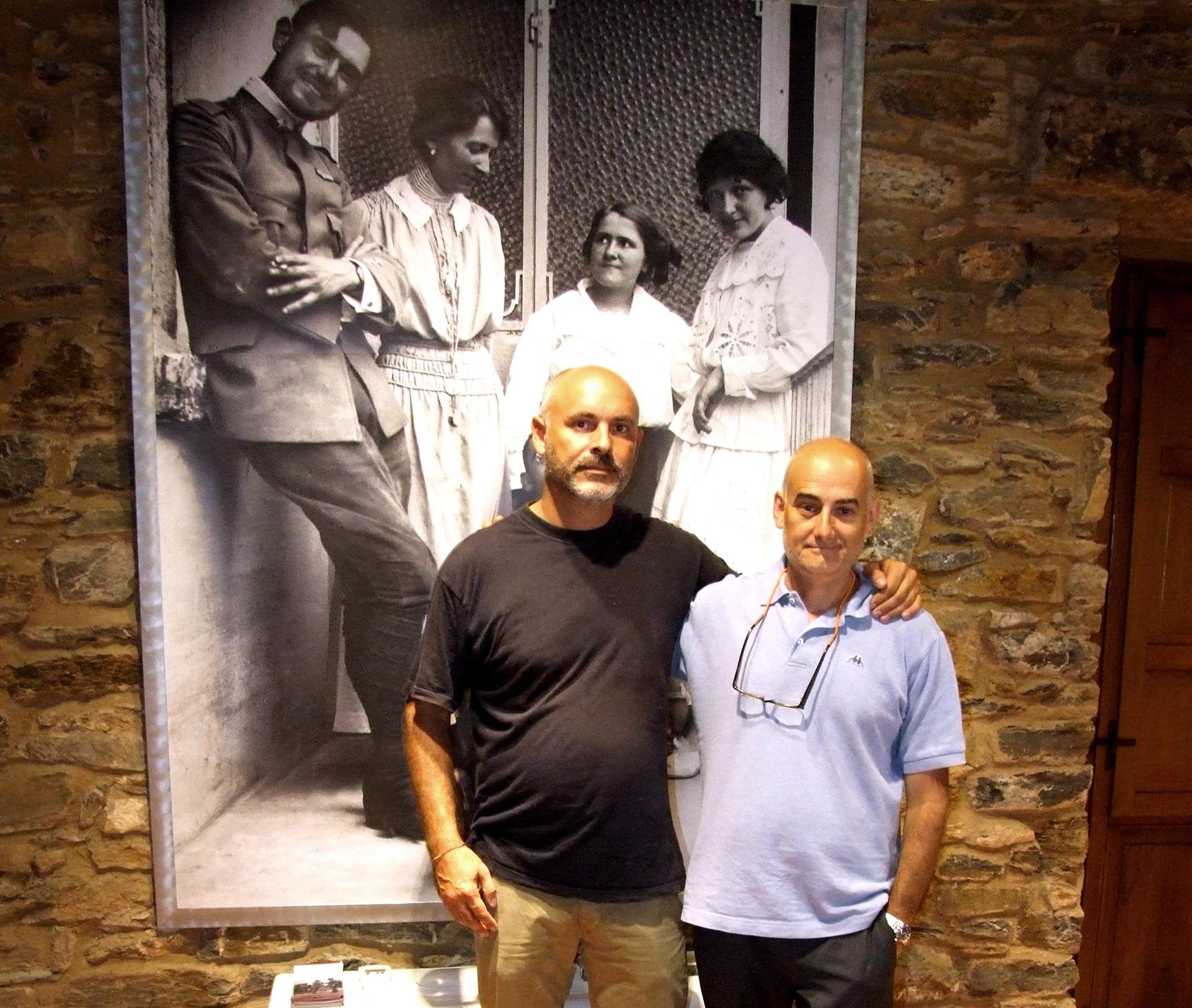 Tommaso Lussu, nipote di Emilio Lussu, con R.Dal Molin