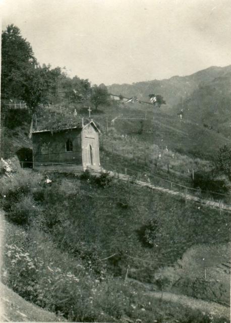 Il cimitero italiano di Val Doblar.