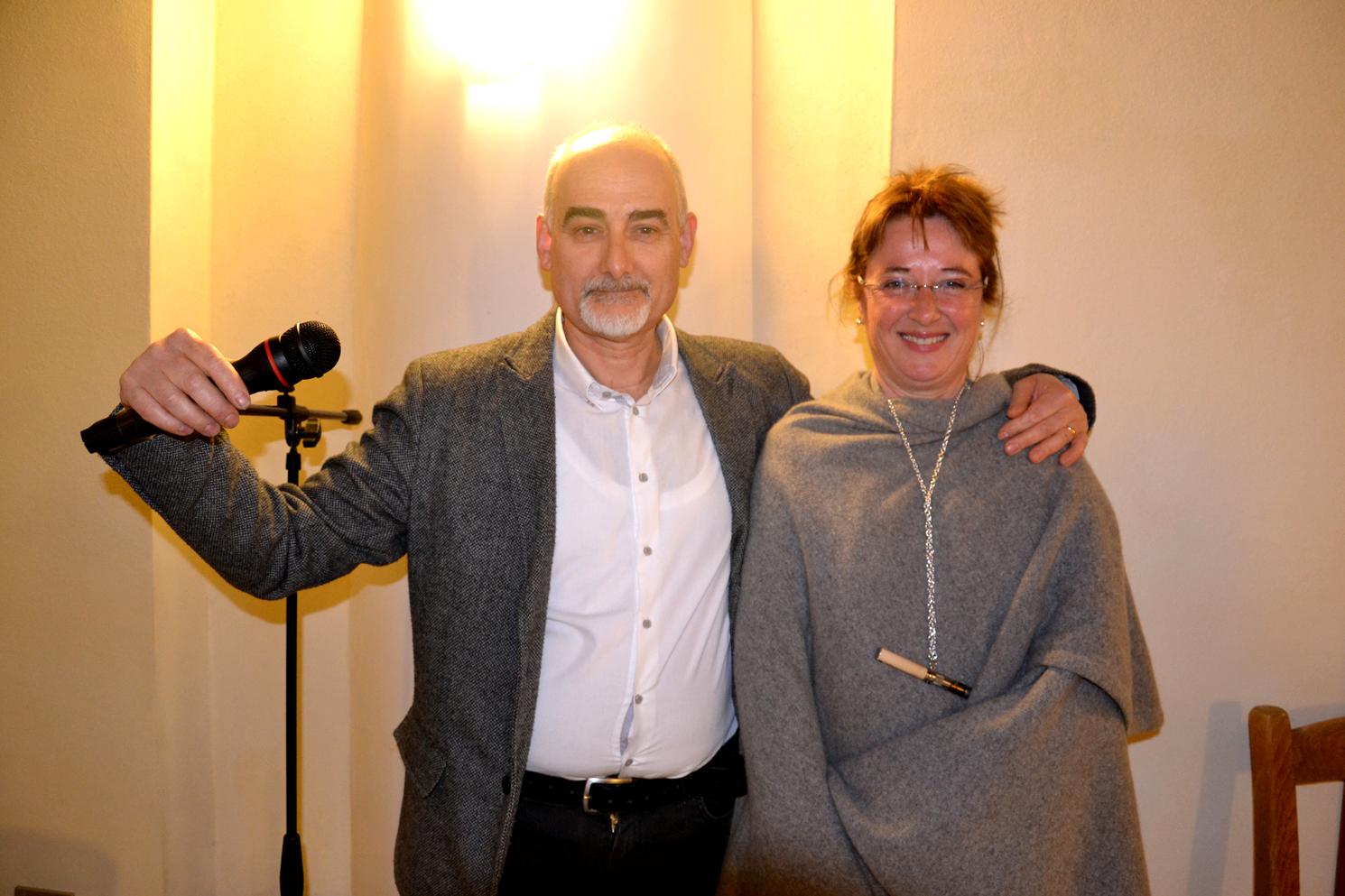 I due artefici della serata di Valstagna: Ruggero Dal Molin e Michela Mazzarol