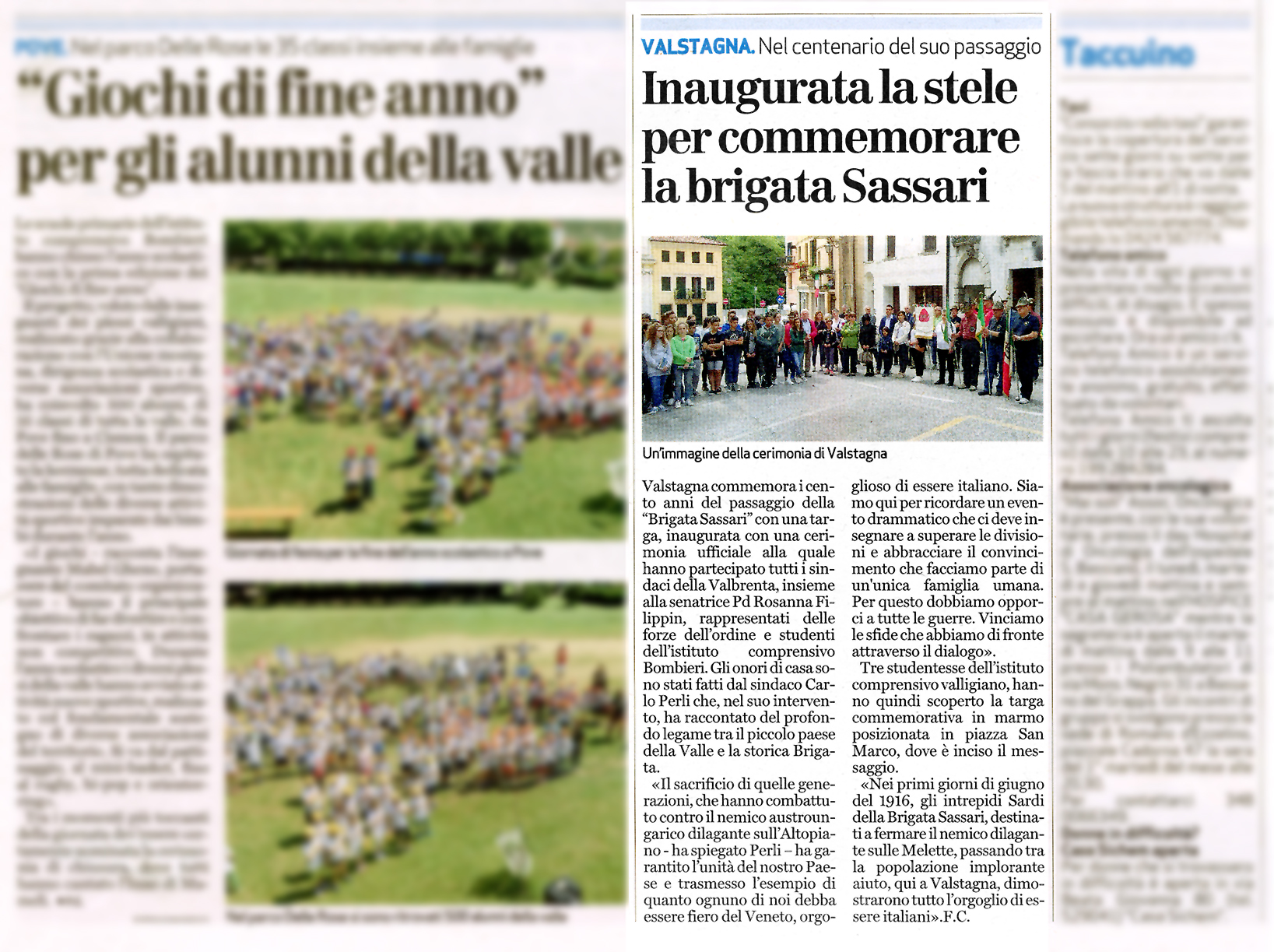 """Da """"Il Giornale di Vicenza"""" - giovedì 9 giugno 2016"""