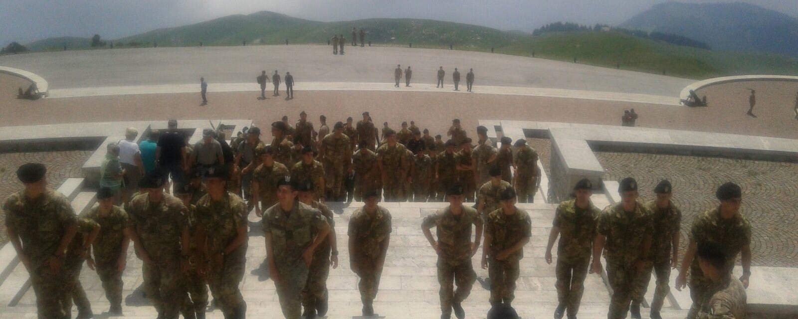 9 luglio 2016: gli Allievi Ufficiali dell'Accademia Militare di Modena in visita al Sacrario del Grappa