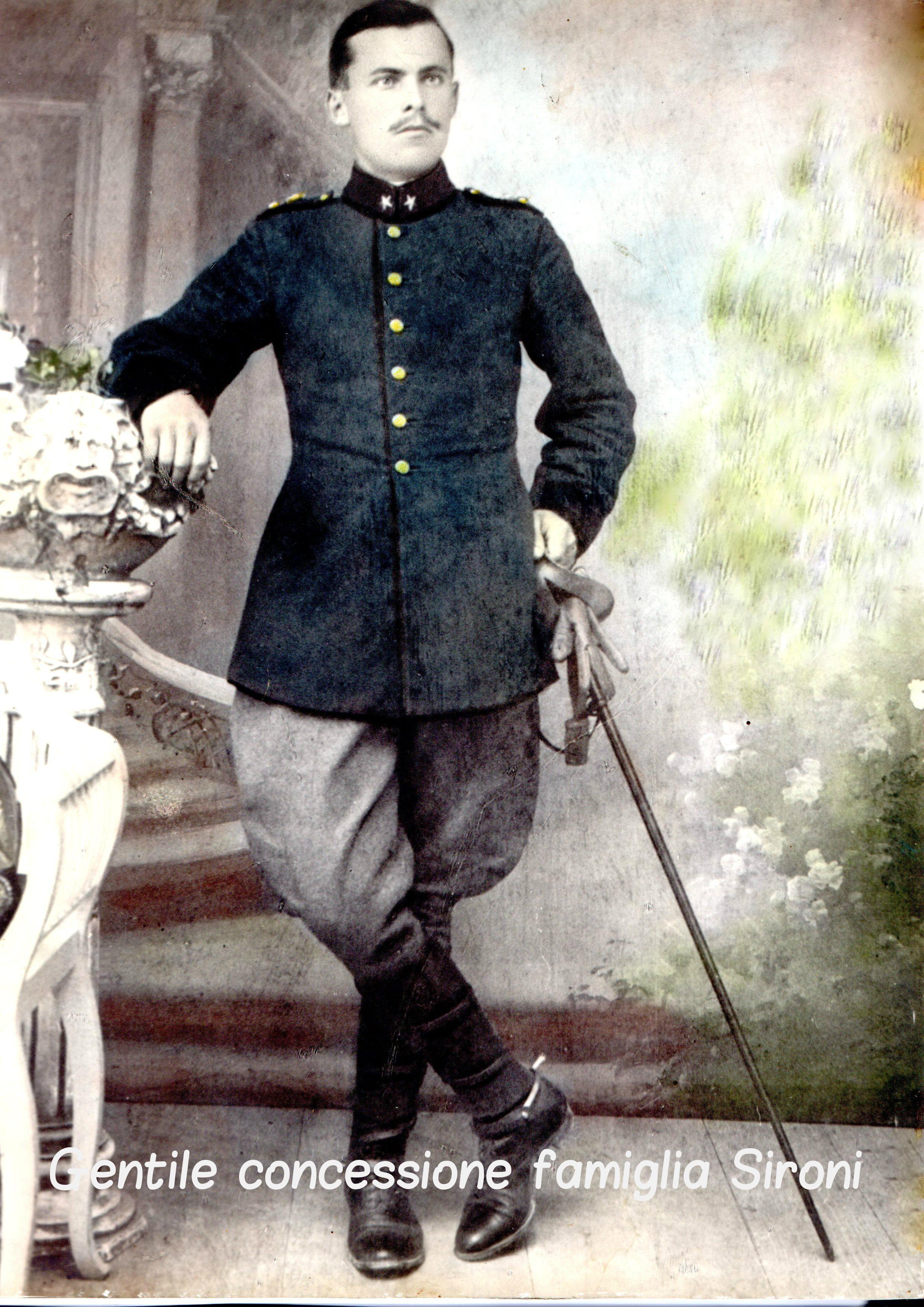 """Il Cavaliere Carlo Sironi del 3° """"Savoia Cavalleria"""""""