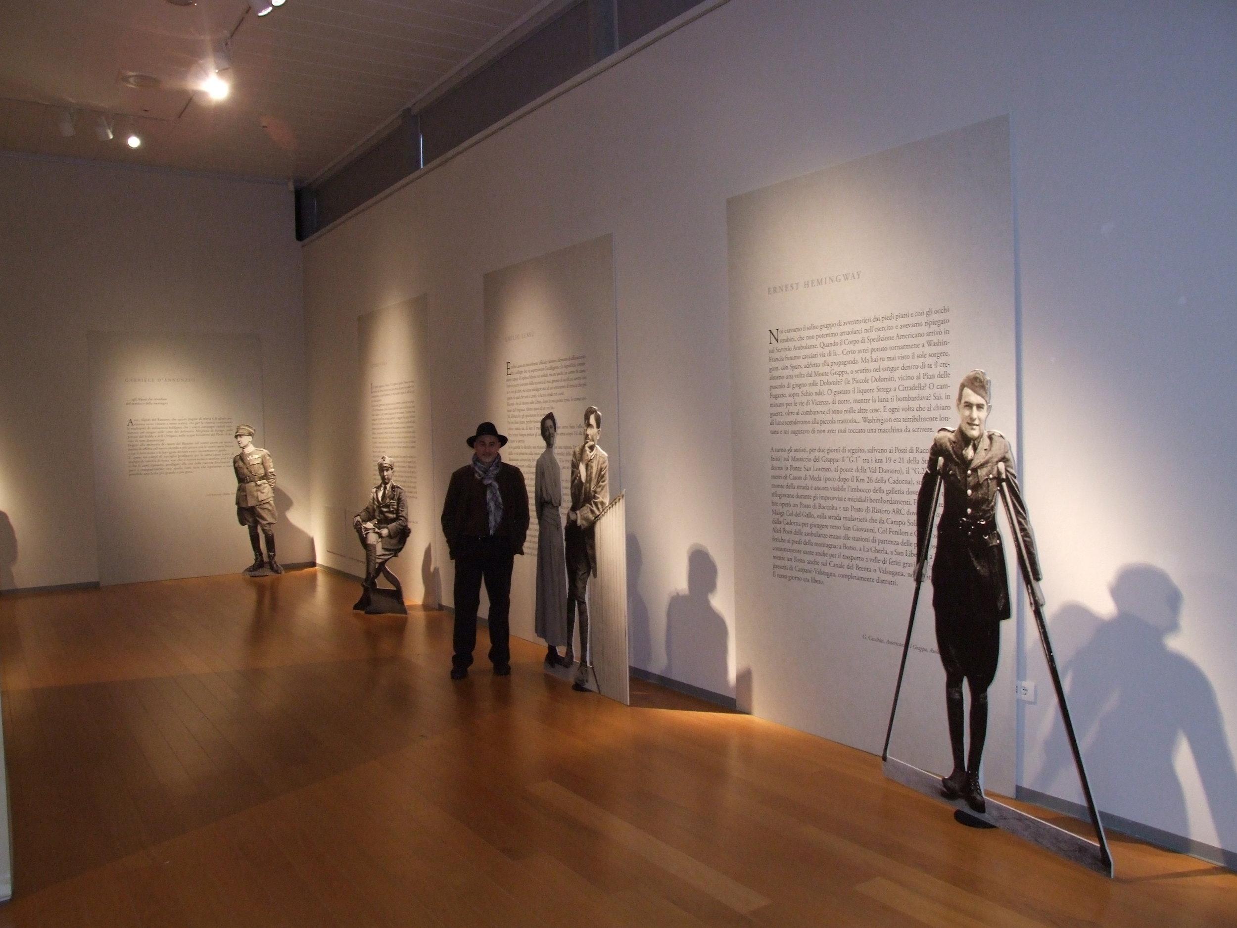 Ruggero Dal Molin back-stage della mostra