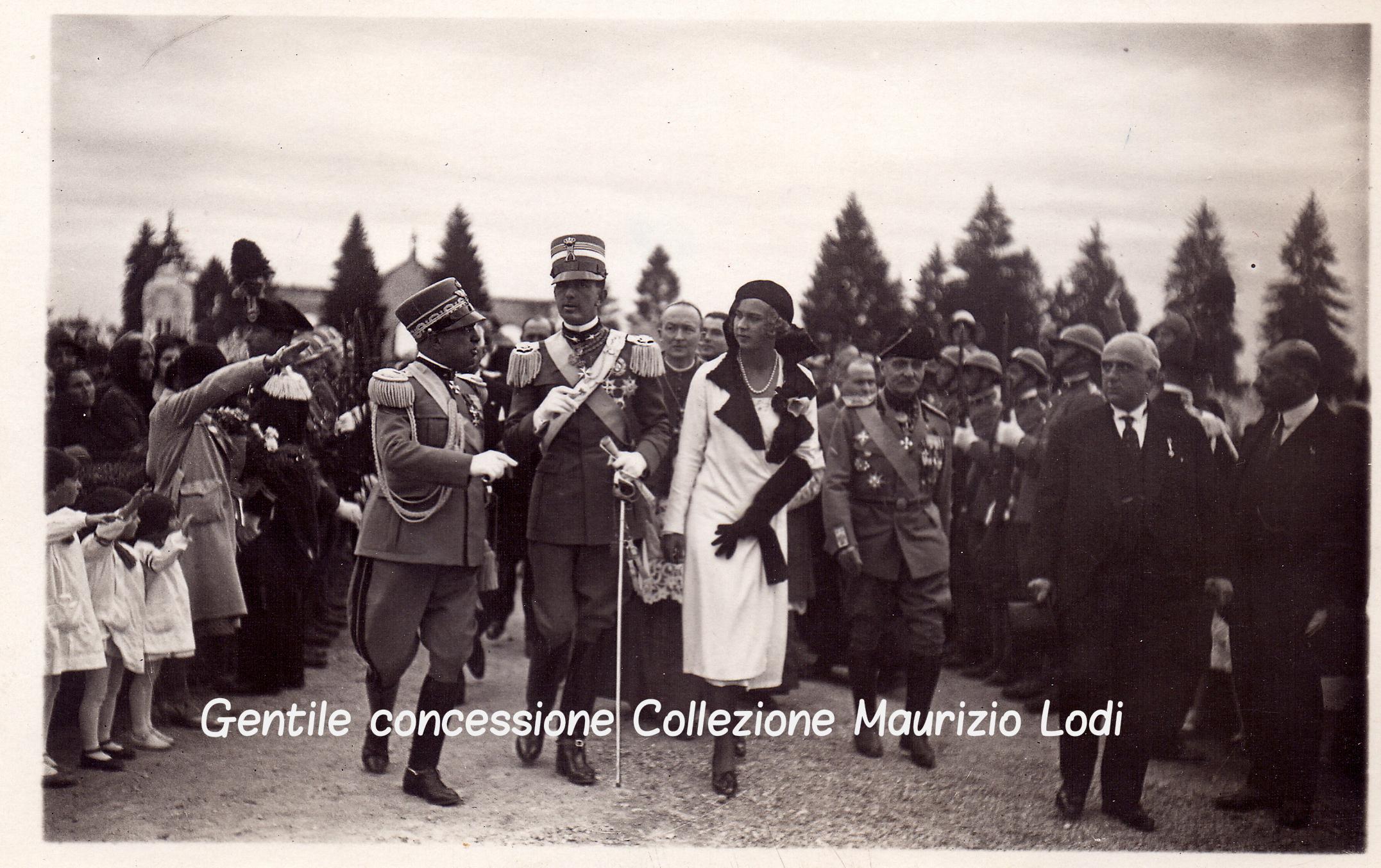 Mantova 28 settembre 1930 Principi di Piemonte inaugurazion Tempio Ossario Caduti Grande Guerra presso il Cimitero Monumentale (c).jpg