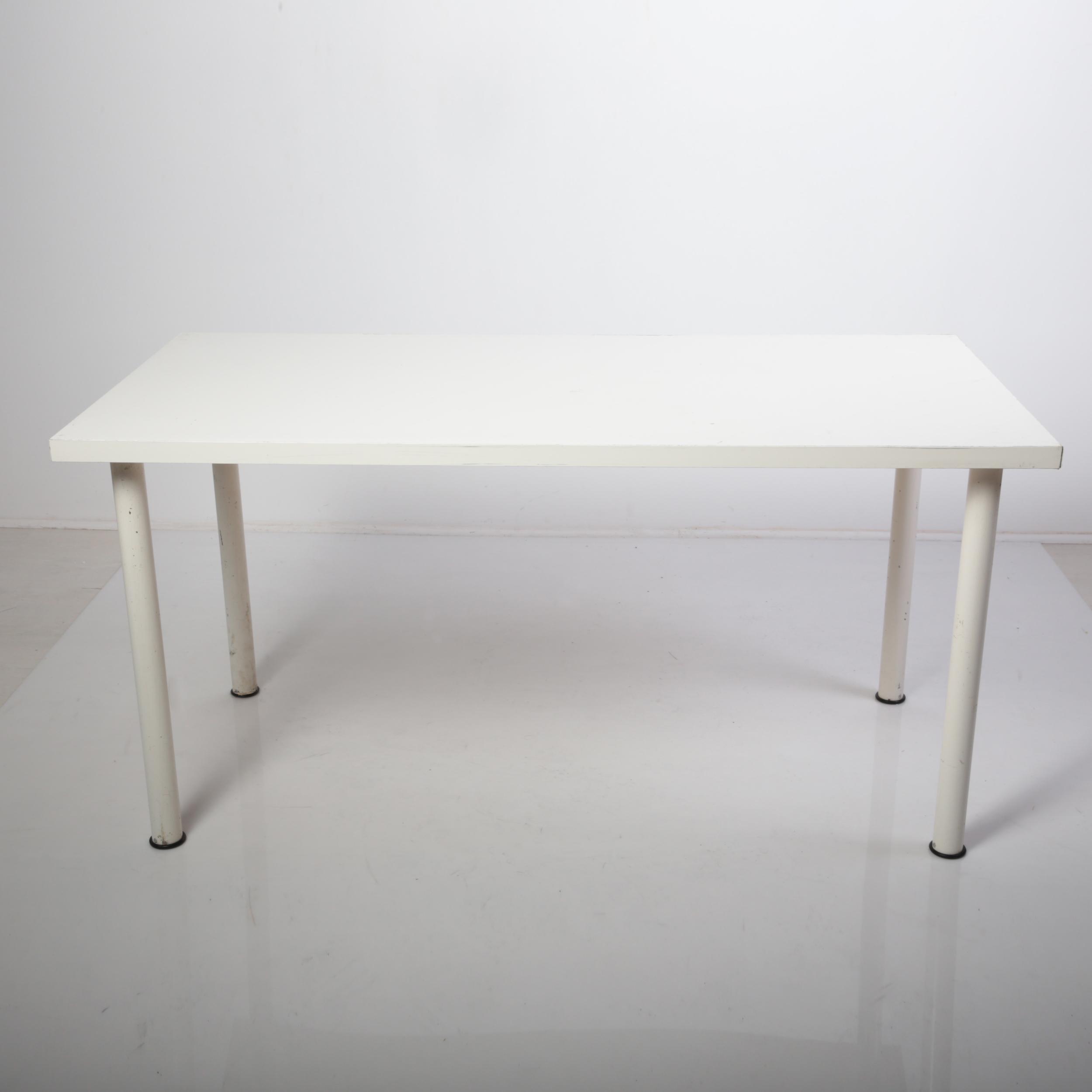 tavolo legno lac bianco 160x80