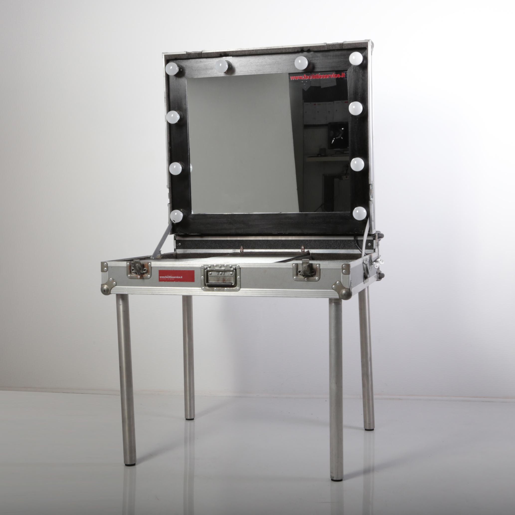 specchio trucco in flycase