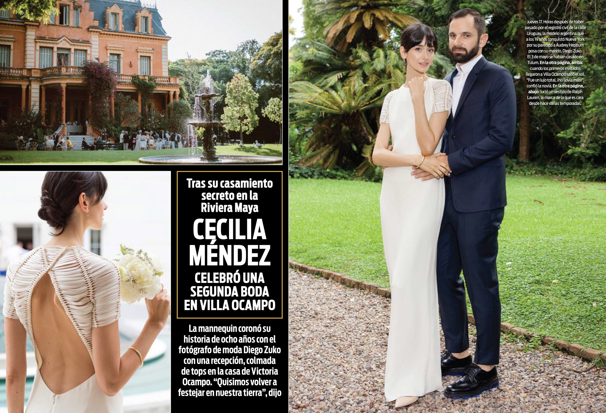 Our Wedding featured in ¡HOLA!Argentina - In collaboration with Four Seasons Buenos Aires