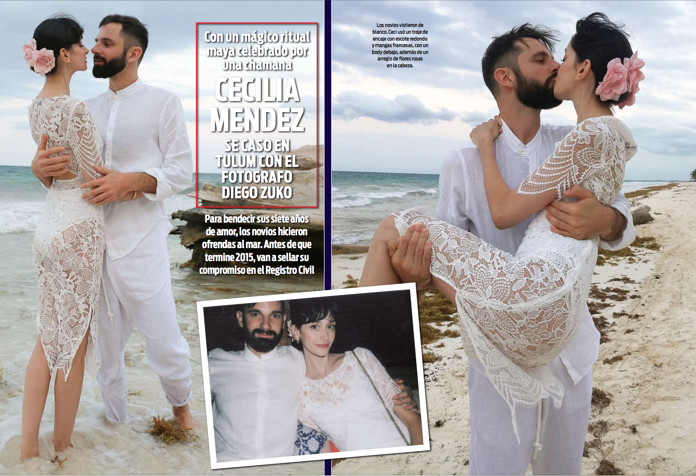 Our Wedding ceremony in Tulum featured in¡HOLA!Argentina - Click here to read the full Interview