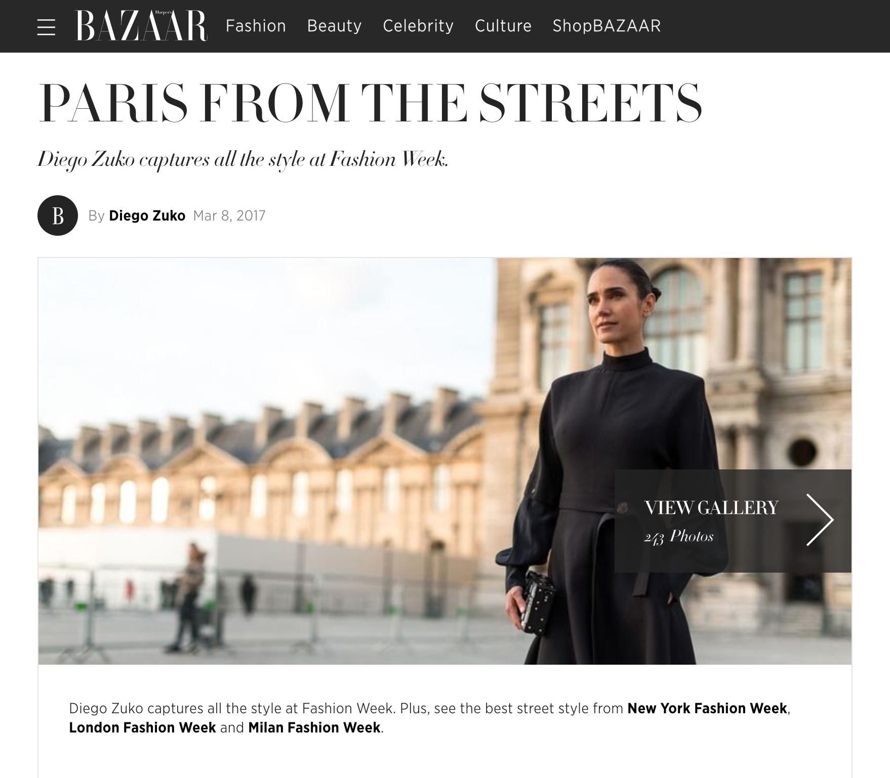 Street Style Coverage for Harper's Bazaar US -