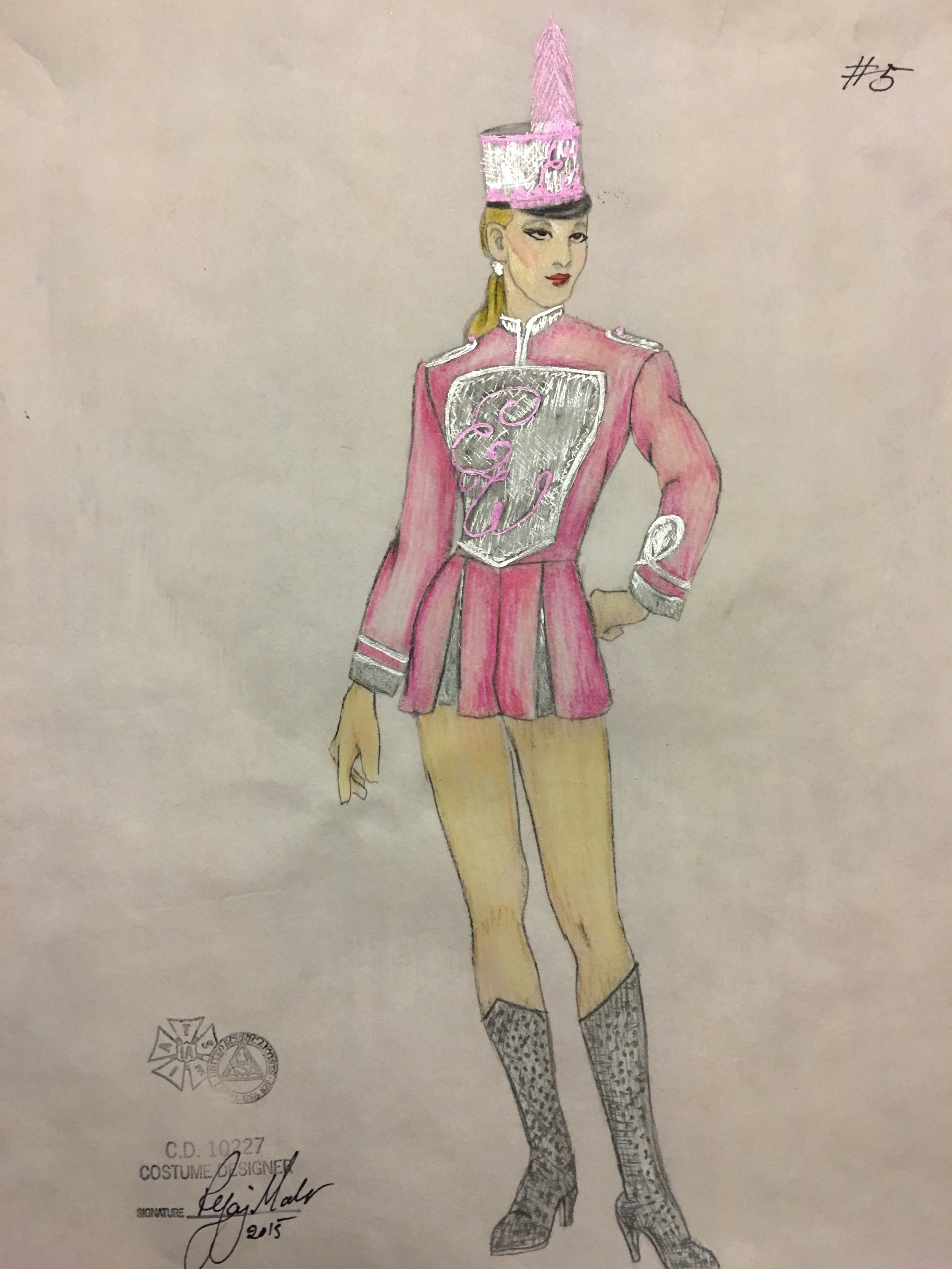 Sketch for Elle's Majorette Costume