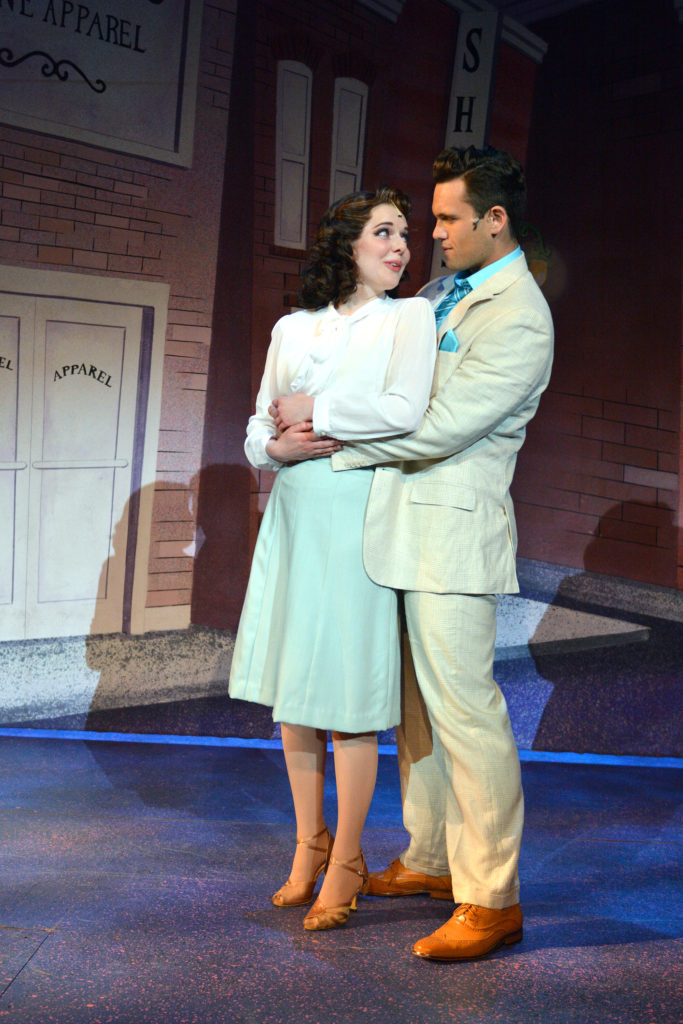 "Kristen Hahn as Sarah Brown with Stephen Mark Lucas ""If I Were a Bell"""