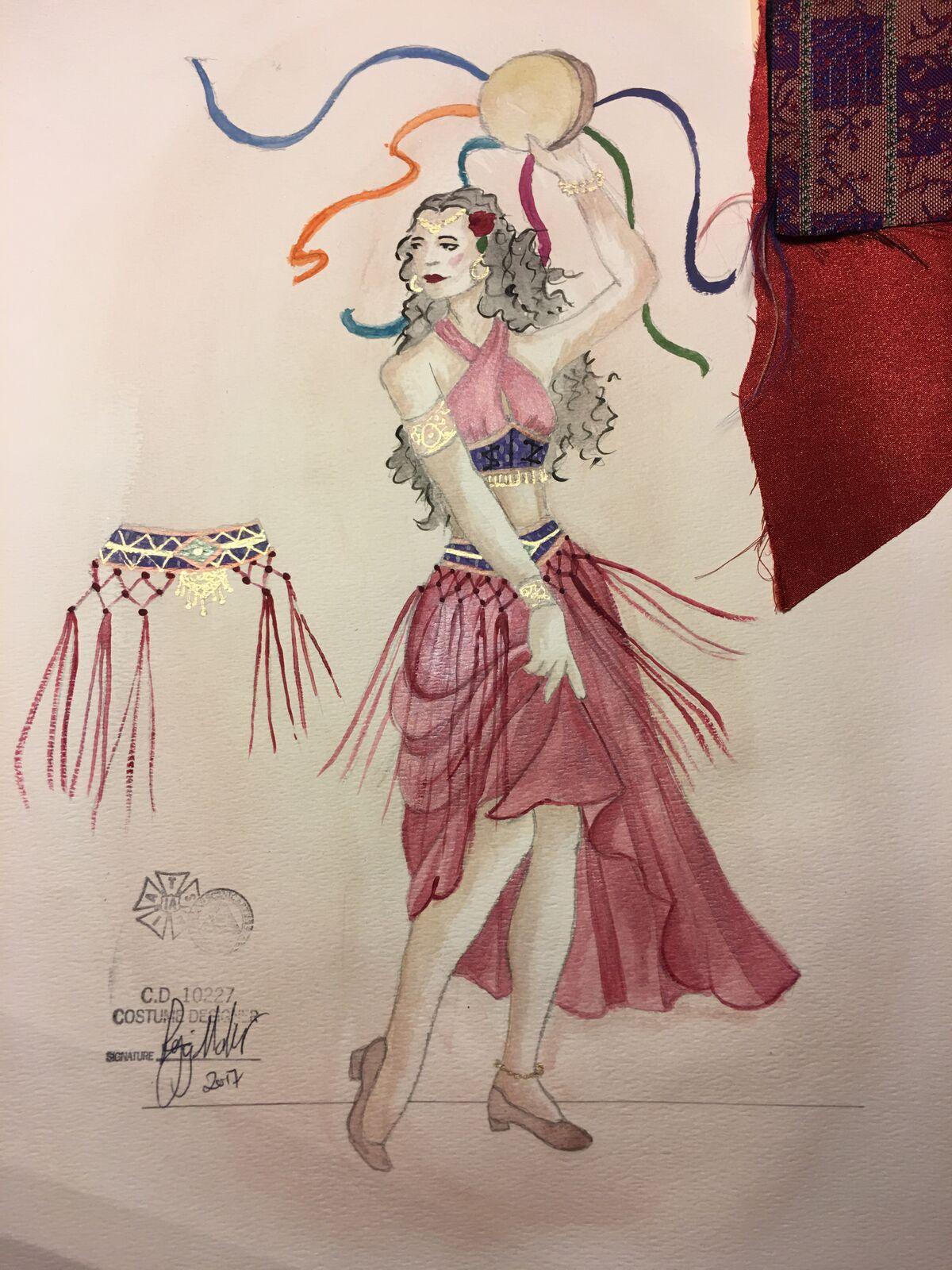 Sketch for Esmeralda
