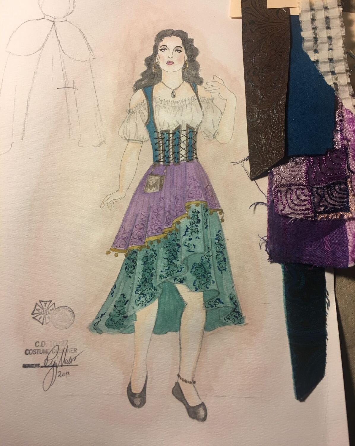 Sketch for Esmarelda