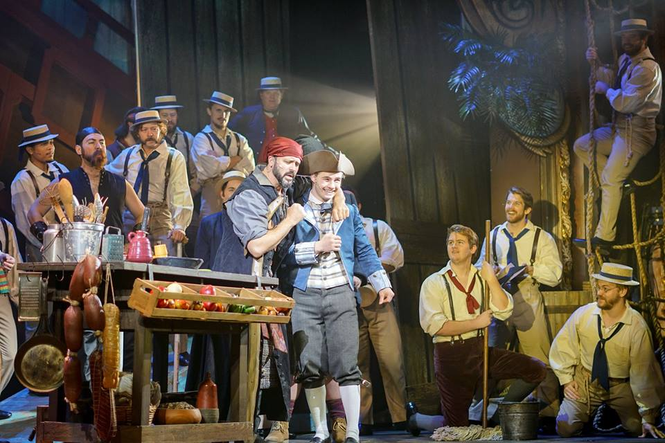 Jeremiah James (Long John Silver) Michael Nigro (Jim Hawkins) and Company