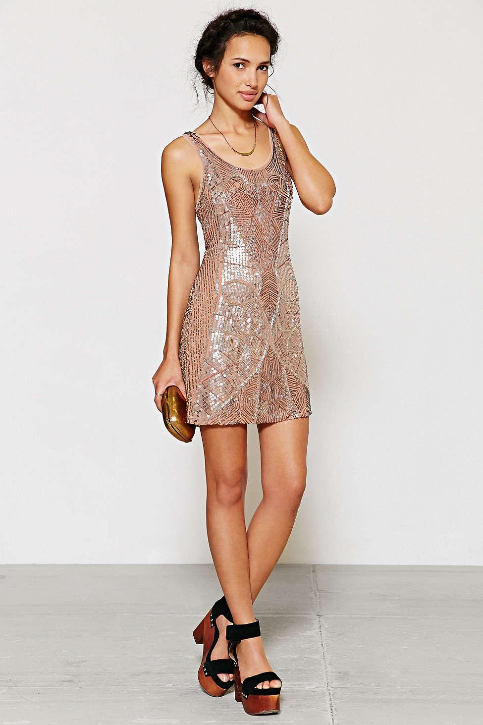 Beaded Mini Dress URBAN OUTFITTERS $350