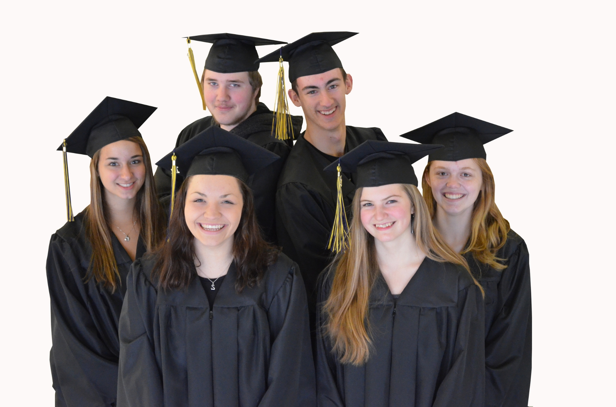 Members of the Northport High School Class of 2014. CLOCKWISE FROM THE TOP DOUGLAS FIRESTONE, JAKE KRISTIANSEN, AUTUMN DUFFINEY, OLIVIA KINKER, ASHLEY PINO, FIONA MULLER. All qualified as Northport Promise Scholars! Photo by Jenny Evans.