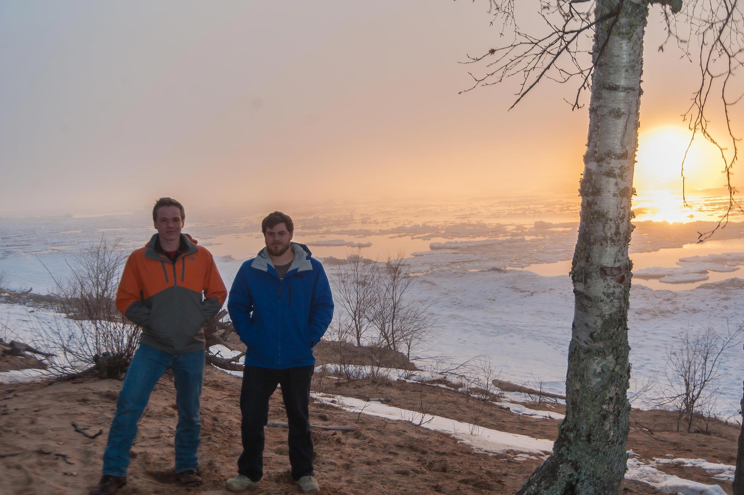 Promise graduates Andy Sleder and Devon DeVriendt at Michigan Tech.