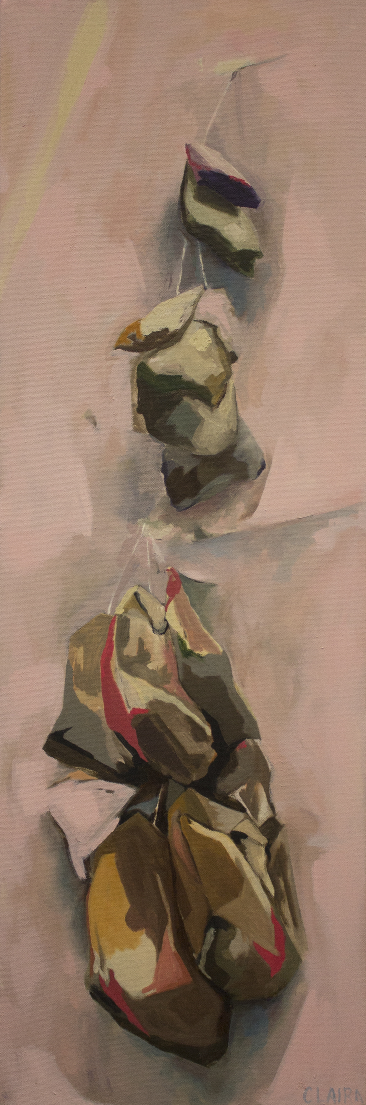 "escape route    oil on canvas.  36x12"""