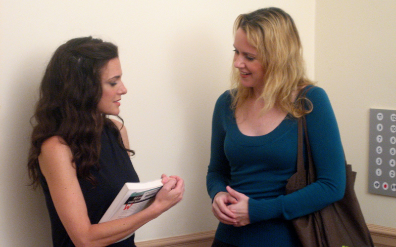 Still from my  Sunshine Cleaning  scene directing project (L-R actors Marissa Mutascio and Erin Cronican)