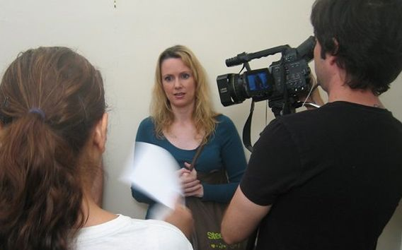 Behind the scenes of my scene directing project.