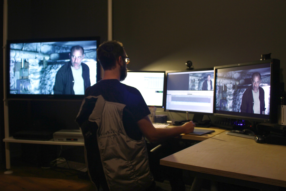 Justin Lachance editing DEAL TRAVIS IN.