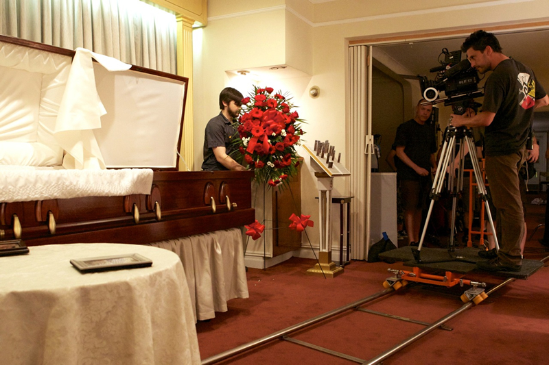 "I wrote the first film I directed, ""Vivienne Again,"" specifically for the free location I had — a funeral home."