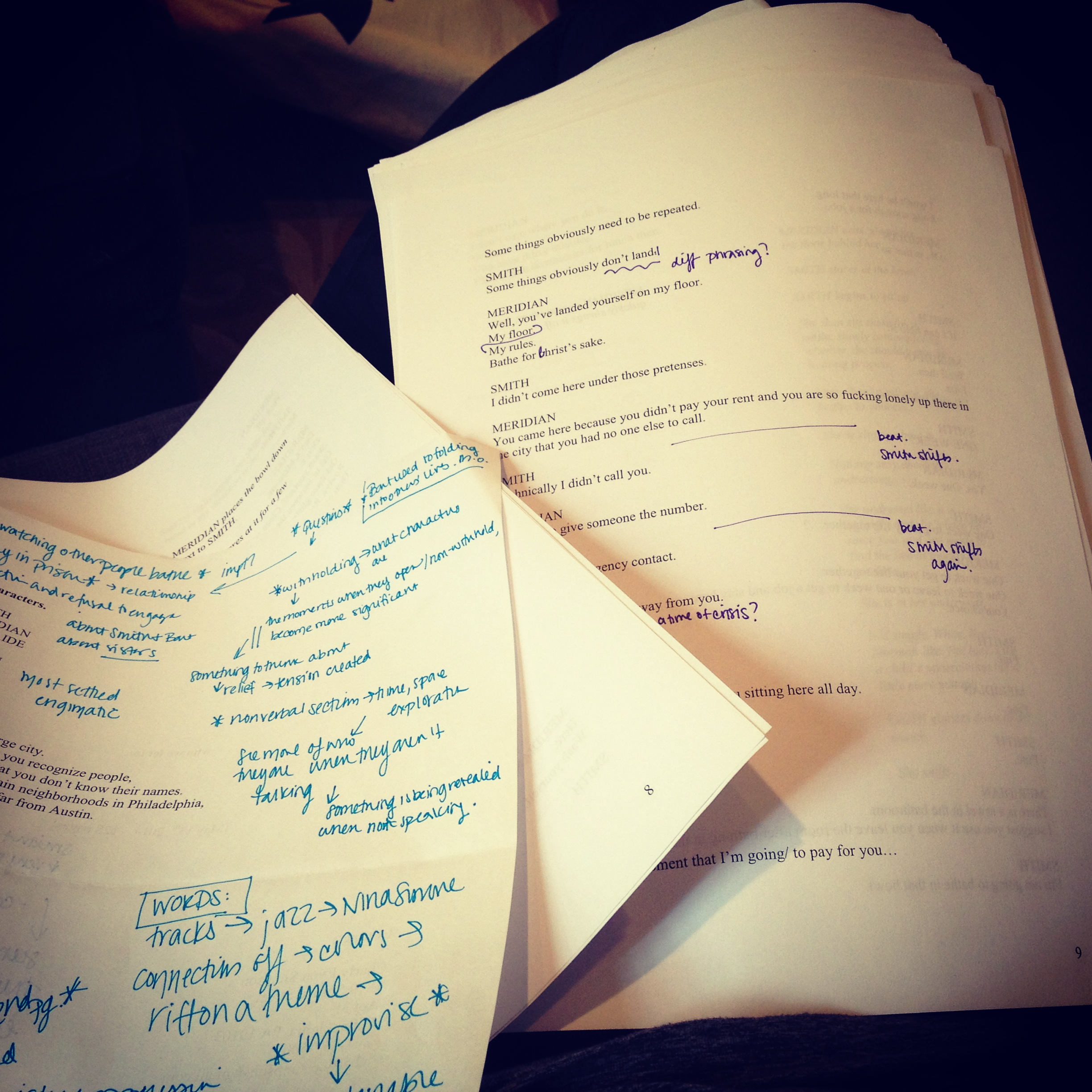 editing my play, 'who we let in'