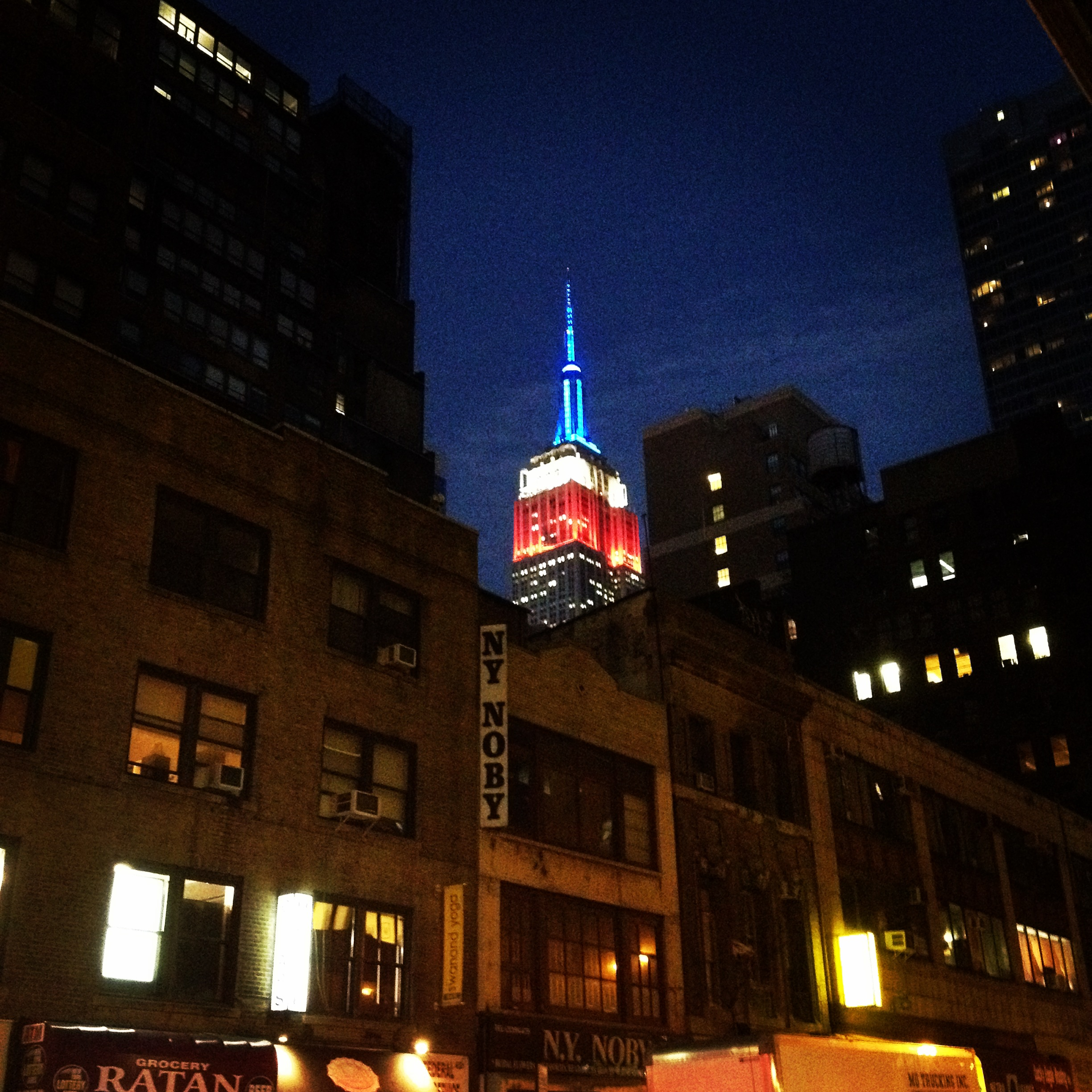 the view of the empire state building on 9/11/14