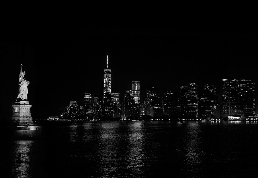 Skyline de New York des del ferri que va aStaten Island