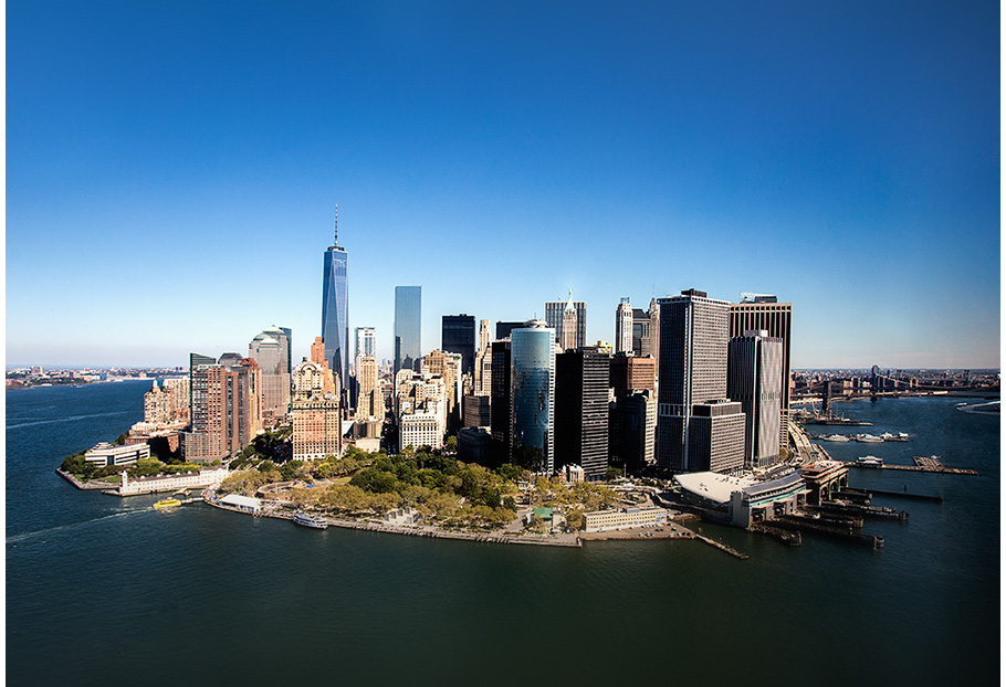 Vista d'ocell de l'illa de Manhattan