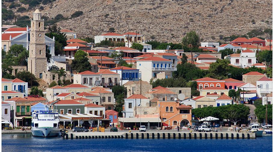 Diafani,petit poble coster situat al nord est de l'illa de Karpathos
