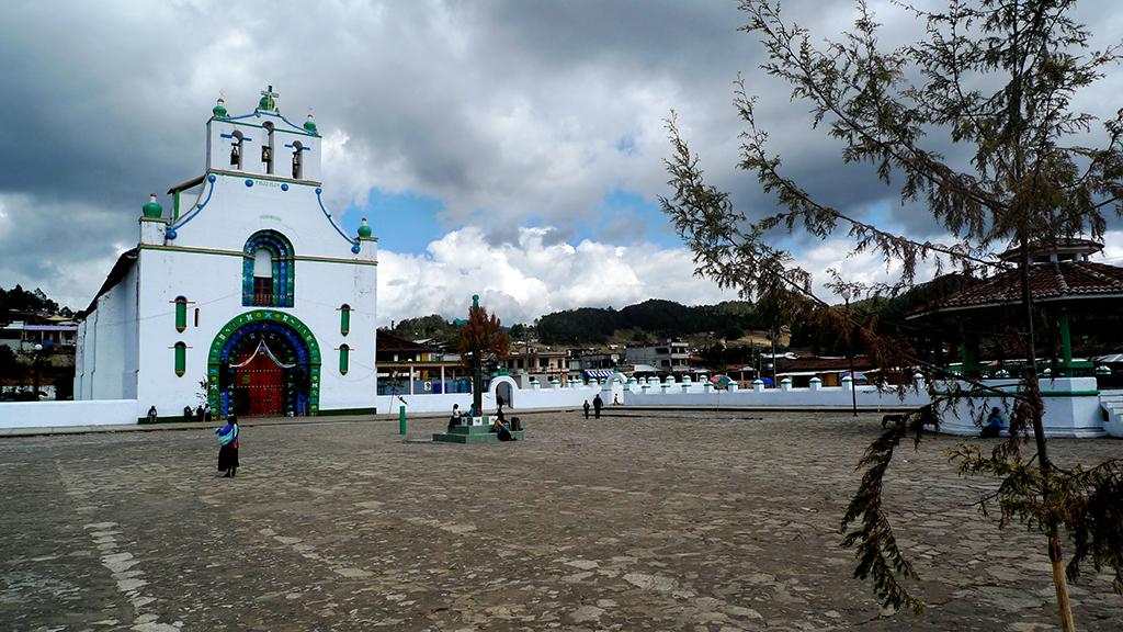 L'ésglésia deSan Juan Chamula, situat al'estat de Chiapas