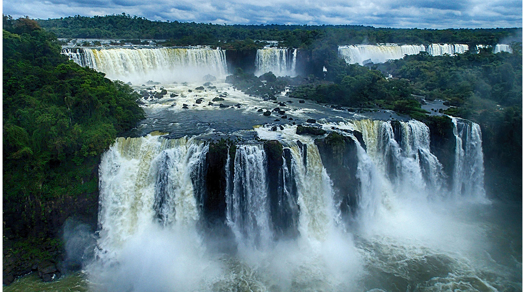 Les cascades d'Iguaçú vistes desde Brasil