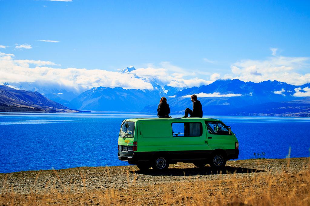 Lake Pukaki. Mt Cook