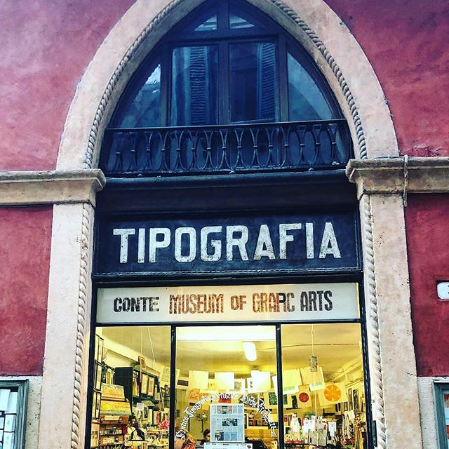 On a whirlwind adventure abroad and stumbled across this adorable print shop in Verona Italy. #graphicarts #typography #prints #europe #italy