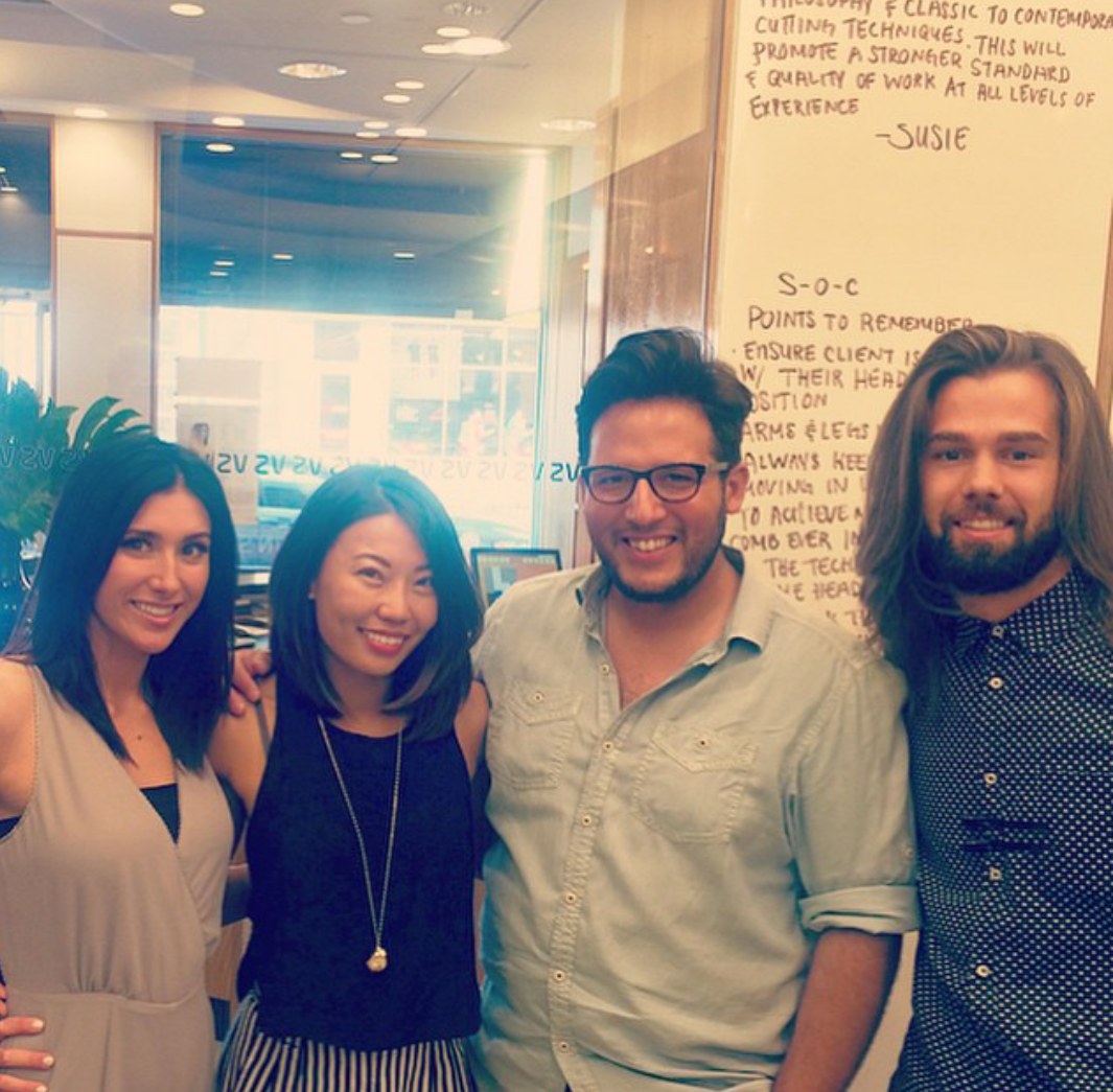 Christina and Gil with instructor, Susie Kim, and Sheldon!