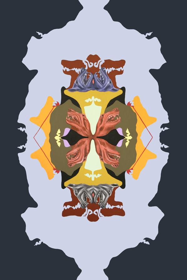 """Grotesquerie 4"" (Angry Dog) Grotesque Series 2011-2012"