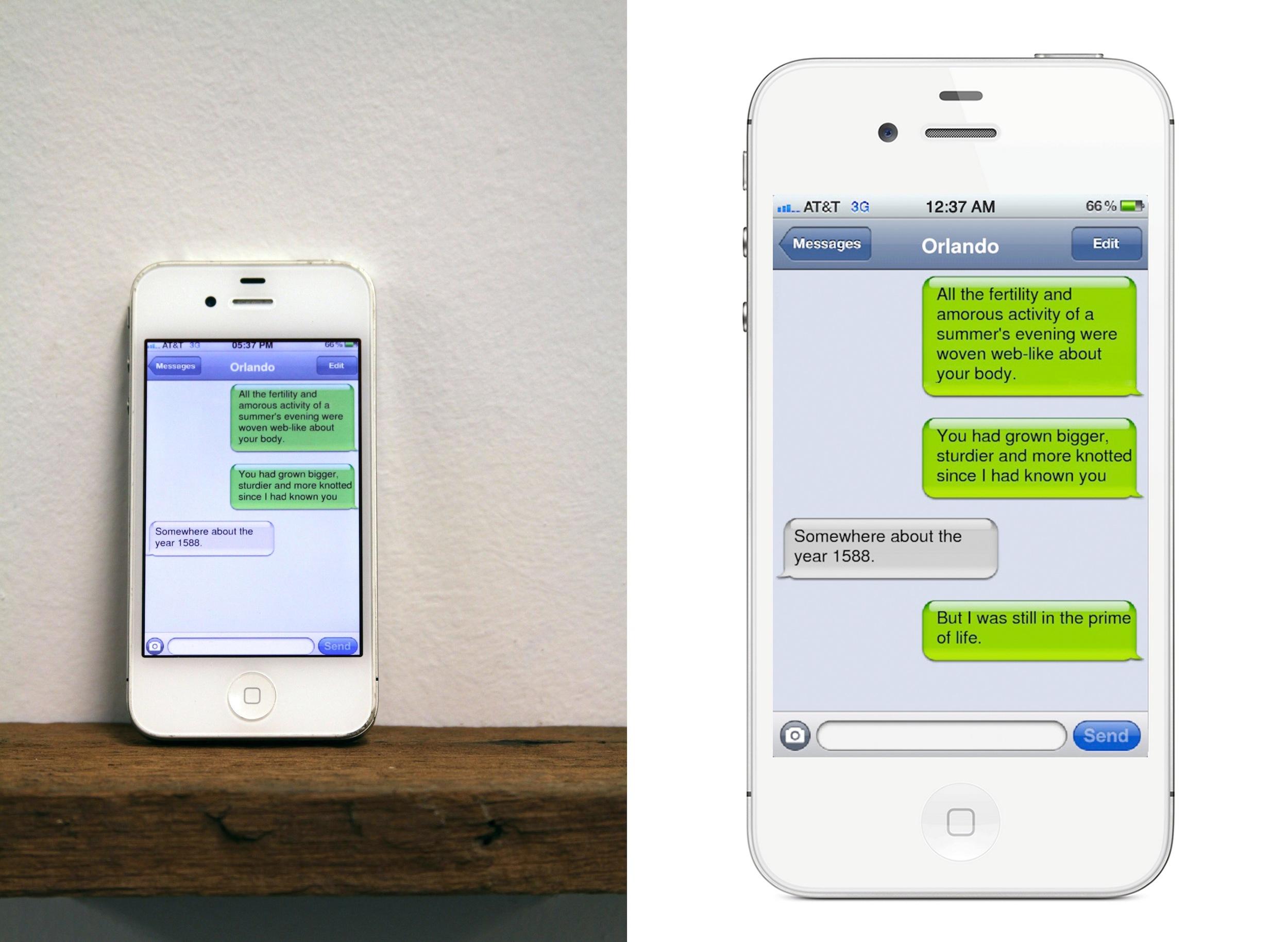 Drunken Text Messages from an Oak Tree