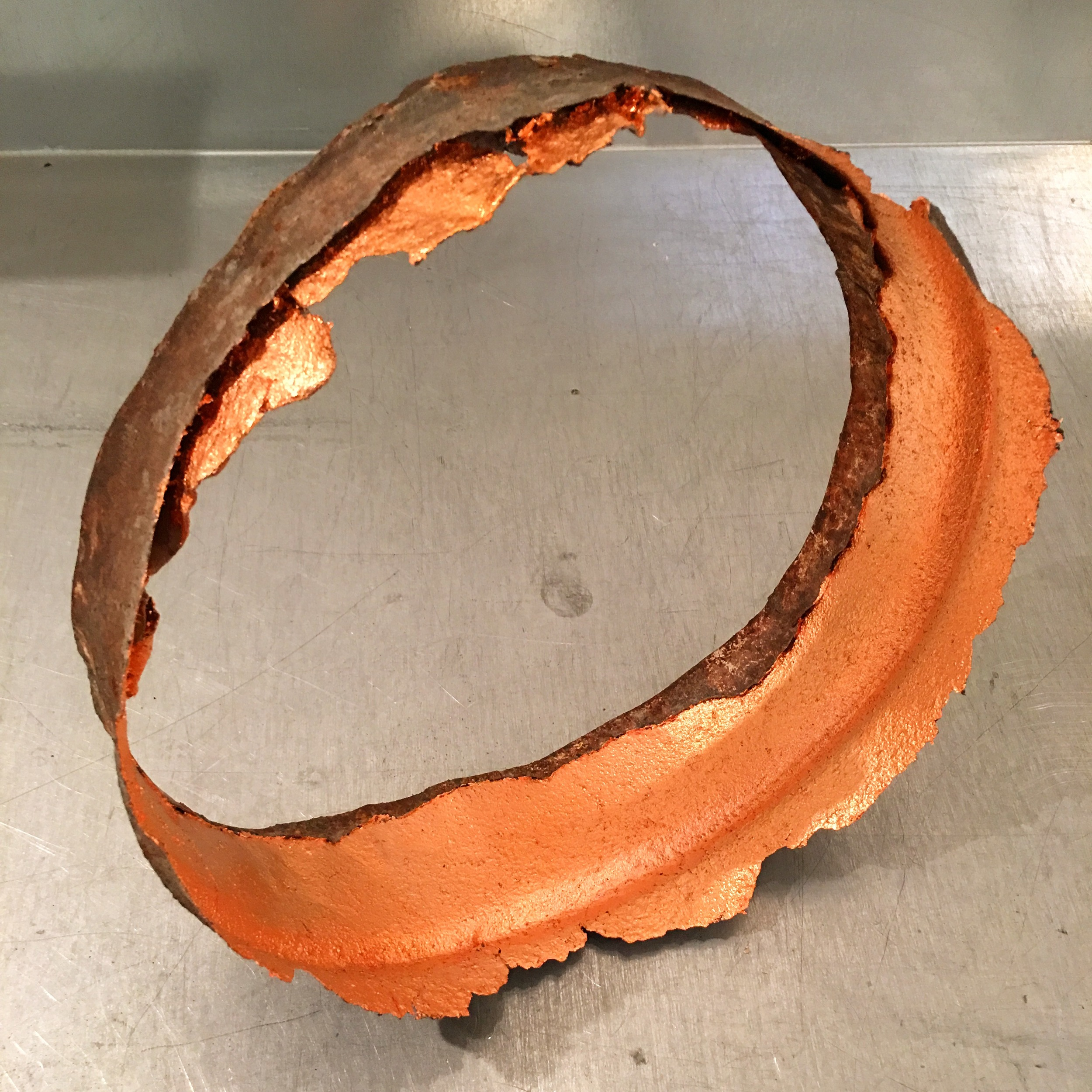 Chris Collins,  Circle , found object + copper, 2016