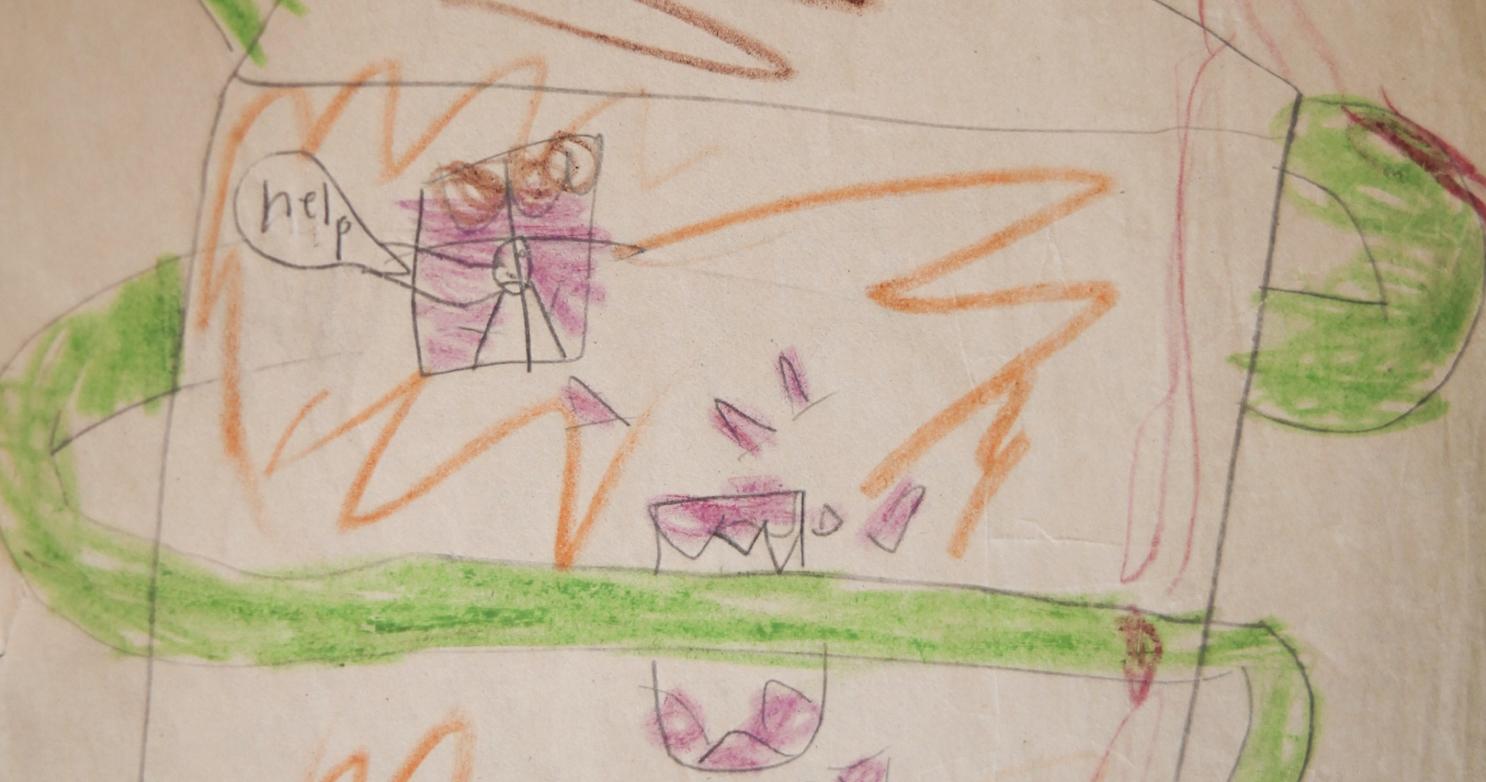 """Killer Earthworms"" illustration, 1987"
